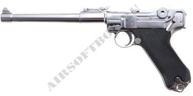WE Luger P08 Silver (Long)