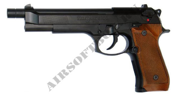 WE Beretta M92L Black Wood