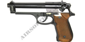 WE Beretta M92S Black-Silver-Wood